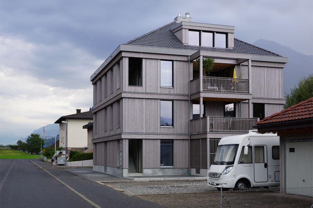 Neubau mehrfamilienhaus eichli stans holzbau bucher ag for Mehrfamilienhaus neubau